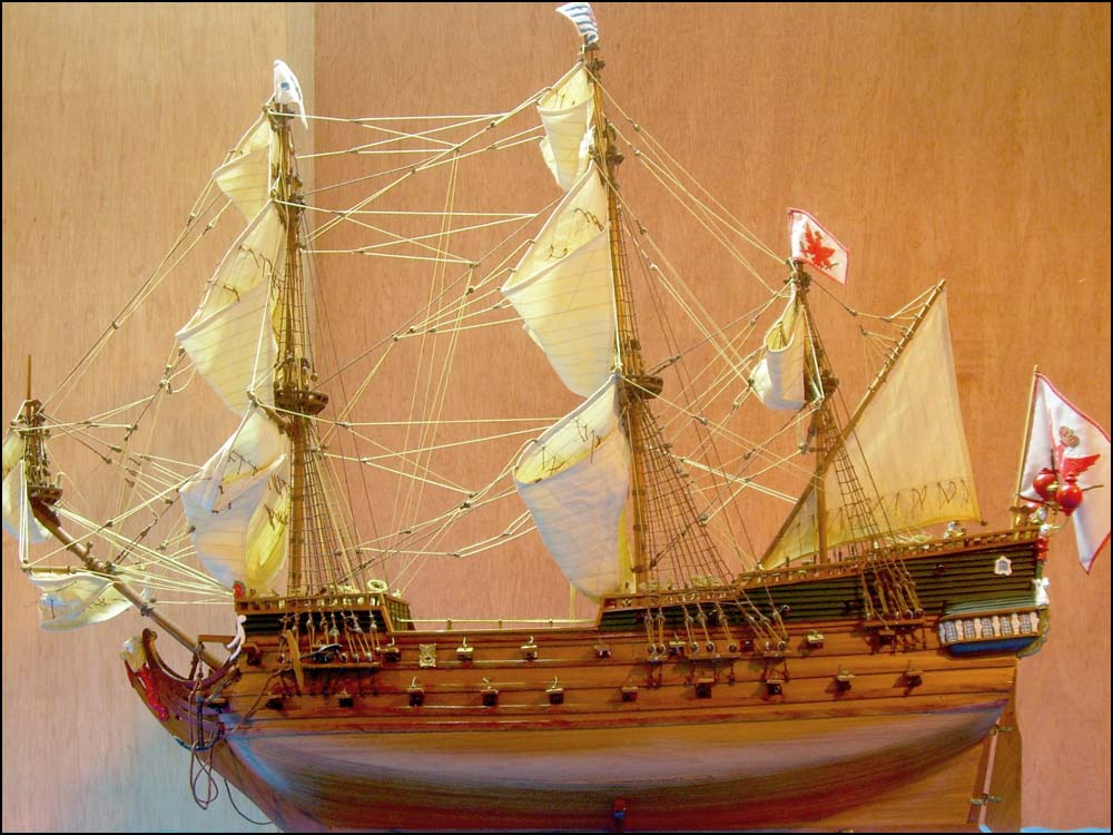 Wappen von Hamburg Ship Model