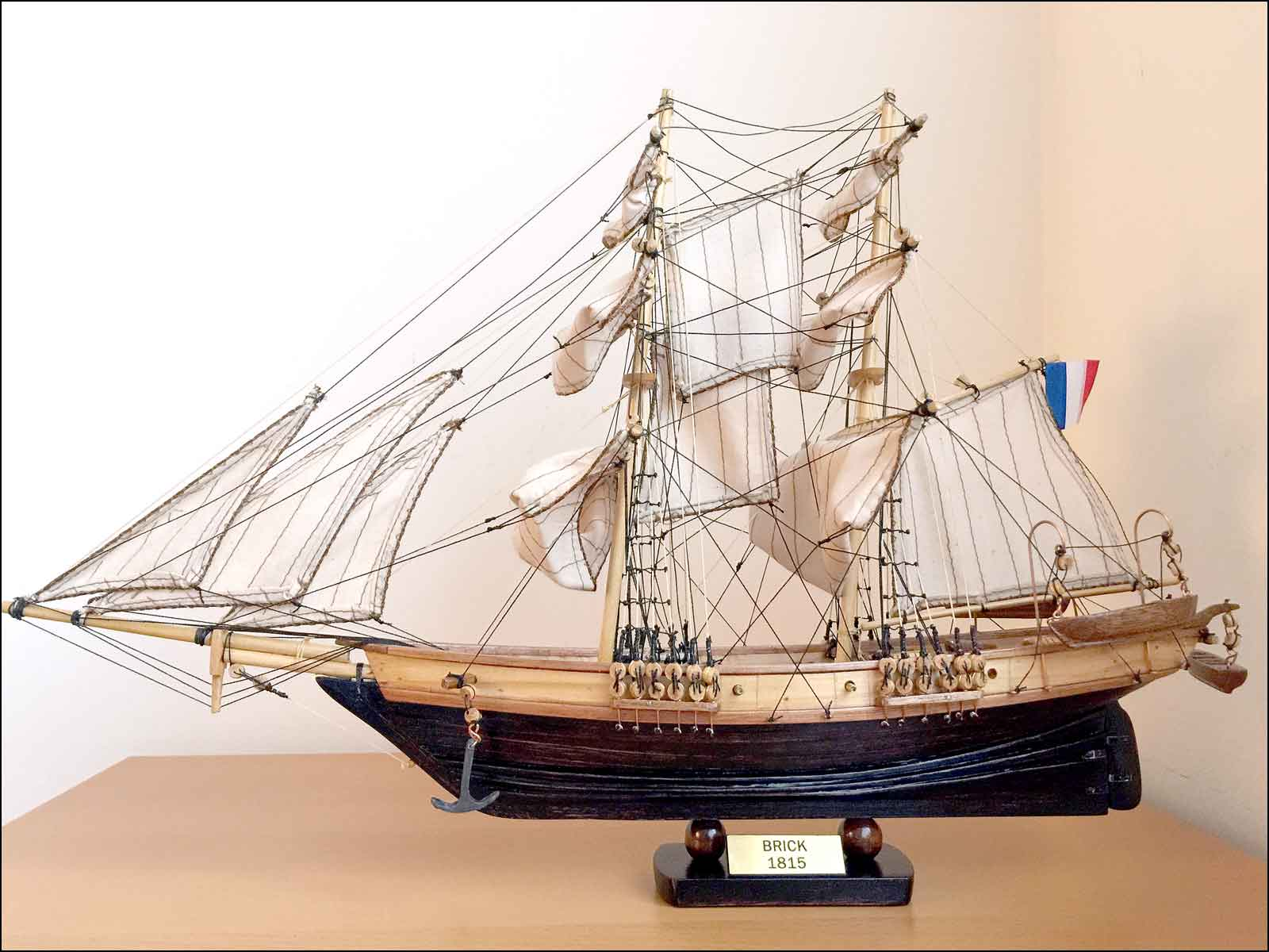 Brick Negrier Ship Model (1830 France)|Small Size