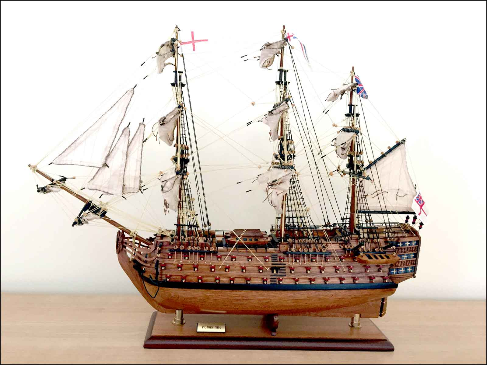 HMS Victory Ship Model (1785 GB)|Medium Size|Varnished