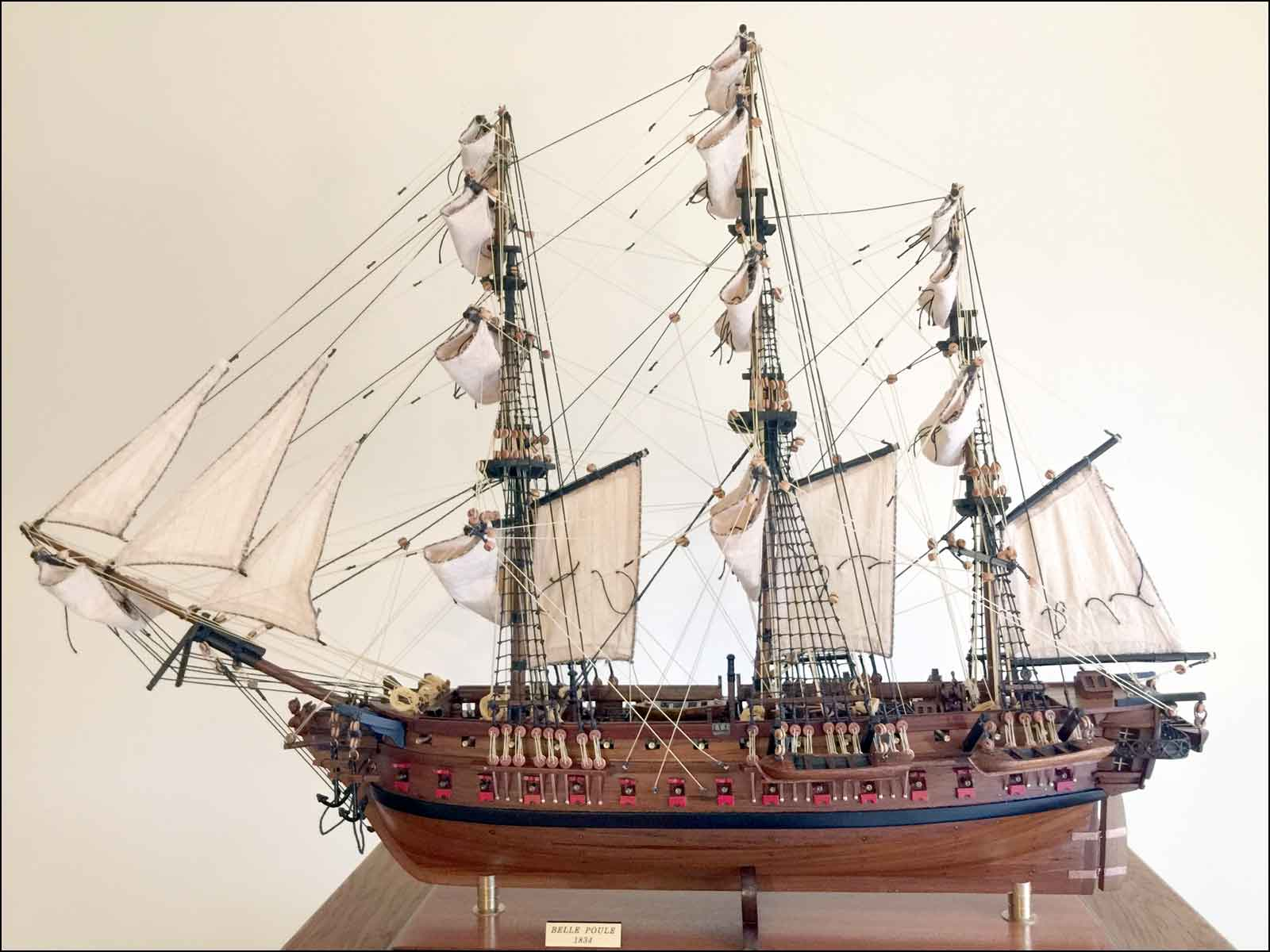 Belle Poule Ship Model (1834 France)|Medium Size